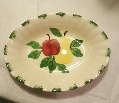 Blue Ridge Southern Pottery Fruit Apple and Pear Serving Bowl