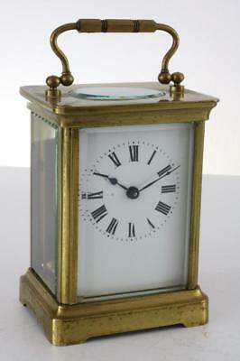 ANTIQUE FRENCH 8 DAY CARRIAGE CLOCK by ALBERT VILLON working but spring bust