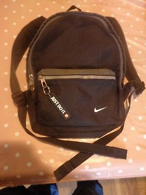 Nike Just Do It,  Small Black & grey Rucksack / Backpack.