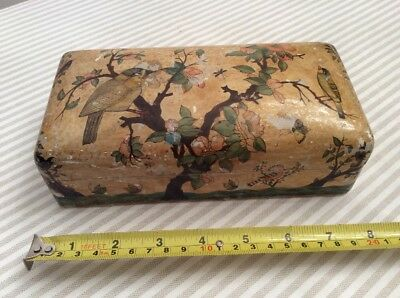 Antique Vintage Kashmir Beautifully Hand Painted Box