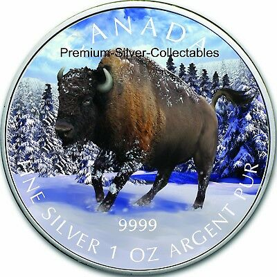 2013 Canada Wildlife Series Bison - 1 Ounce Pure Silver Coin 6 of 6!