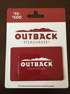 $500 Gift Card Outback Steakhouse, Bonefish Grill, Fleming's, Carrabba's