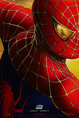 SPIDER-MAN 2 MOVIE POSTER 2 Sided ORIGINAL Advance 27x40 TOBEY MAGUIRE