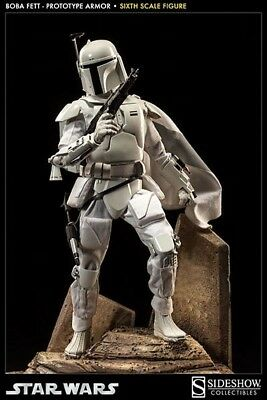 Sideshow Collectibles Exclusive 1/6 Scale Boba Fett Prototype Armor New!