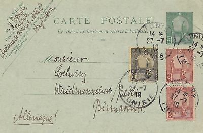 French colonies: Tunisie: 1910: carte postale to Waidmannslust/Germany