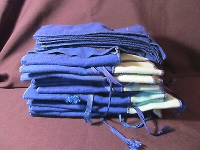 Lot Of 23 Vintage Anti Tarnish Cloth Bags For Silver Flatware Storage New Condit