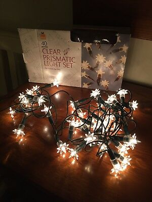 Vintage Retro Christmas Lights 40 prismatic Lights