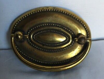 """Single Vintage Hepplewhite Style Oval Drawer Pull 2 1/4 """" Center Canada CB 2383"""