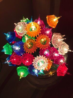 Vintage Retro Christmas Lights Pifco 35 Jewel Lights