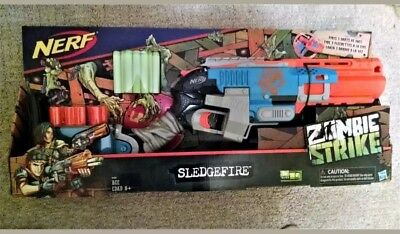 NEW Nerf Zombie Strike Sledgefire Blaster Toy Gun (Discontinued by Nerf)