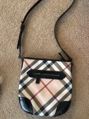 075e04c99e3 100%Auth Burberry Dryden Crossbody Messenger Nova Check Handbag Bag Purse