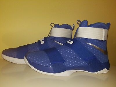 1460009232c0e New Nike Lebron James X Tb Basketball Shoes Blue White 856489-441 Mens Size  18