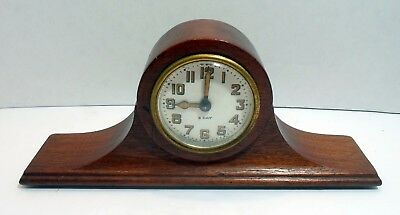 Antique Miniature Seth Thomas Mantel Clock -8 Day- Porcelain Dial - Parts Repair