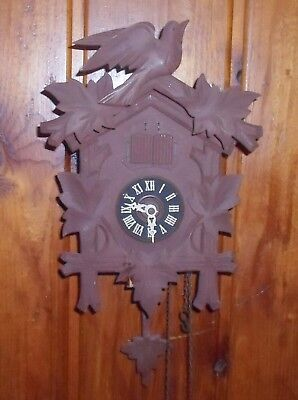 Vintage Angem Musical Cuckoo Clock - Moulin Rouge, Red Mill - Runs Parts Repairs