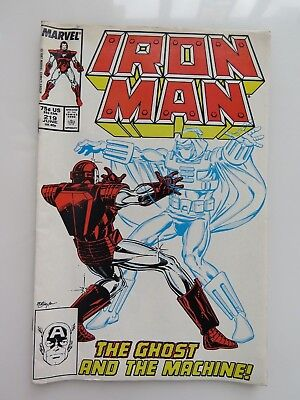 1987 Vintage Marvel Iron Man Vol. 1 #219 Comic Book #9976