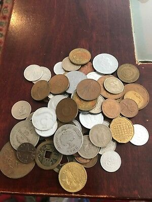 Small Lot Of Older Date Foreign Coins Very Nice Mix Lot#2