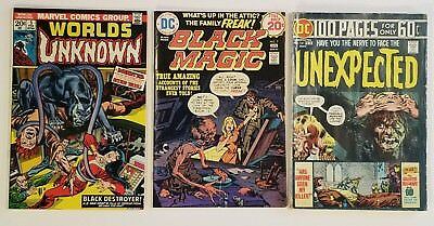 Horror Comics! Worlds Unknown, Black Magic, The Unexpected comic lot!