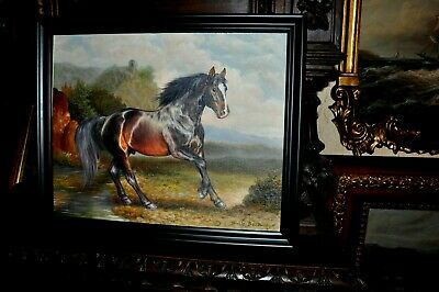 The most Beautiful   Original Horse  Painting by well known Artist
