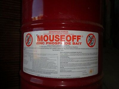 Mouse Off Bait. Zinc Phosphide Bait New, unopened in drum. 125kg. PU NE Victoria