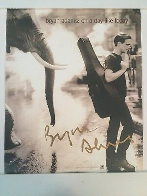 """BRYAN ADAMS 1998 Promo Poster ON A DAY LIKE TODAY 16"""" x 20"""""""