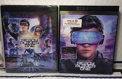 New Ready Player One 4K Uhd+Blu-Ray+Digital Hd! W- Target Lenticular Slipcover!