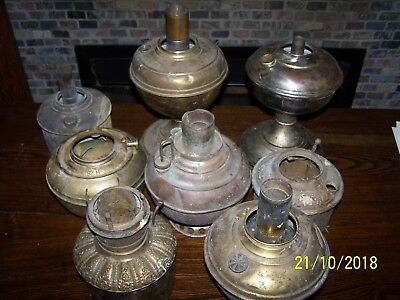 Old oil kerosene lamp Fonts