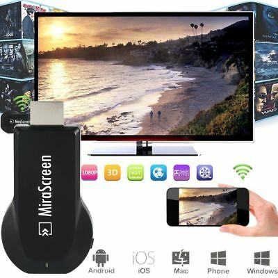 Wireless WiFi 1080P Display TV Dongle Receiver Mirascreen Media Airplay Miracast