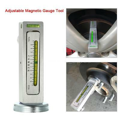 Adjustable Magnetic Gauge Tool Camber Castor Strut Wheel Alignment Truck Car G5