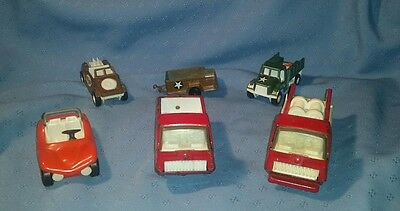 Lot of Vintage Metal Vehicles: Tonka and Tootsietoy; 6 pieces