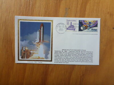 Vintage Usa Colorano Silk Illustrated Space Fdc - Shuttle Discover Sts-26 Launch