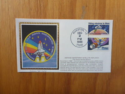 Vintage Usa Colorano Silk Illustrated Space Fdc - Defence Satellite