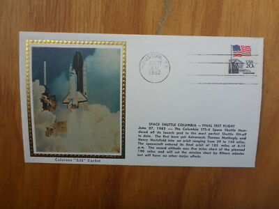 Vintage Usa Colorano Silk Illustrated Space Fdc- Shuttle Columbia Test Launch