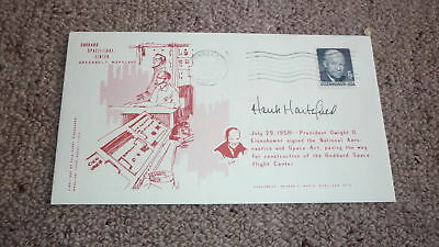 American Astronaut Hank Hartsfield Hand Signed Usa Space Cover