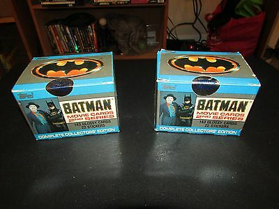 Lot of 2 1989 Topps Batman Series 2 Factory Sealed Complete Sets Limited Edition