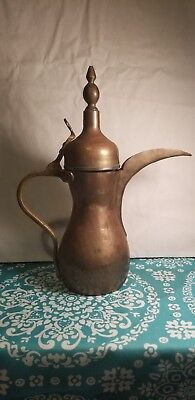 Vintage/Antique Turkish Copper Coffee Pot, Tea Kettle made of Bronze and Brass