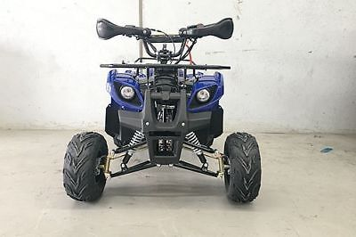 125CC ATV Quad Dirt Bike 4 Wheel Buggy Semi Auto 1+1 Farm Go kart Blue