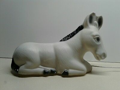 Vintage Empire Blow Mold Donkey Lighted Christmas Plastic