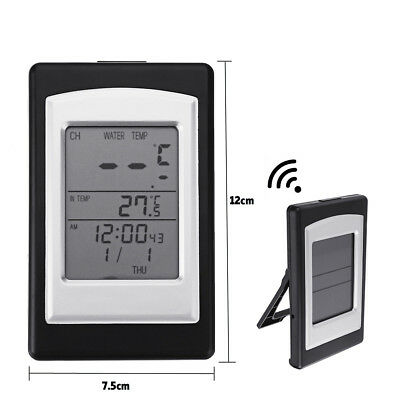 Solar Powered Digital Thermometer Wireless Pond Pool Floating LCD Display Tools