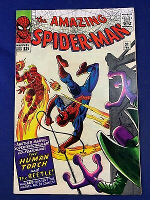 Amazing Spider-Man #21 (1965 Marvel Comics) The Beetle & Human Torch appearance