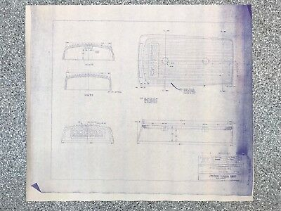 A Vintage Print Of A Shelby American Peter Brock Cobra Air Cleaner Blueprint