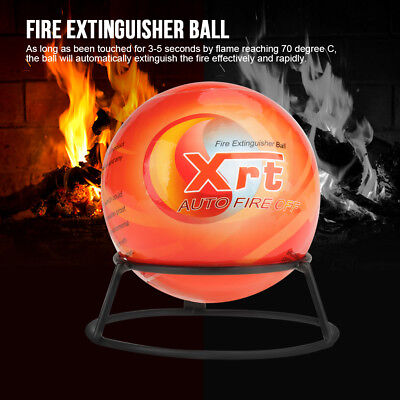 Fire Extinguisher Ball Easy Throw Stop Fire Loss Tool Safety 500g 1300g Orange