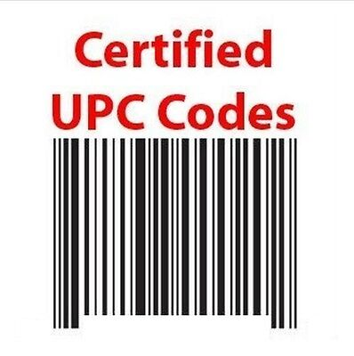 10 UPC Numbers Barcodes Bar Code GS1-approved EAN Amazon Lifetime one time buy