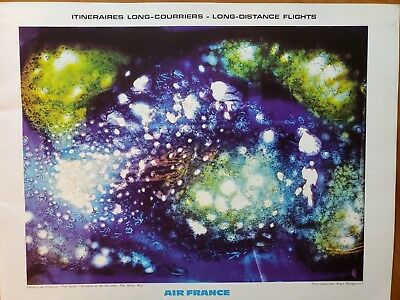 AIR FRANCE LONG Distance Flights Route Maps Of World 1968 - $9.99 ...