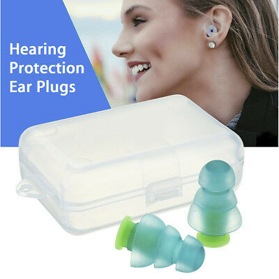 New Noise Cancelling Ear Plugs Protection +Box Sleeping Concert Musician Hearing