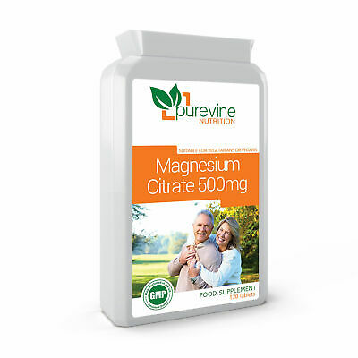 Magnesium Citrate 500mg 120 Capsules Helps Normal Body Functioning-UK MADE