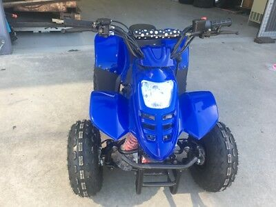 110CC ATV Quad 4 Wheel Buggy Ele-Start Semi Auto 1+1 Reverse Sport DirtBike Blue