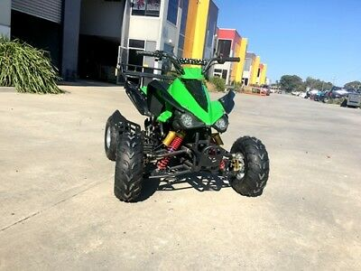 125CC ATV Sport Quad Dirt Bike 4 Wheel Buggy Go kart  Semi Auto 3+1 green