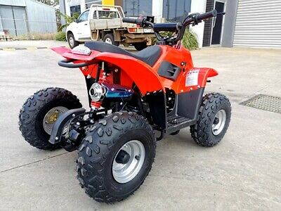 110CC ATV Quad 4 Wheel Buggy Ele-Start Semi Auto 1+1 Reverse Sport DirtBike Red