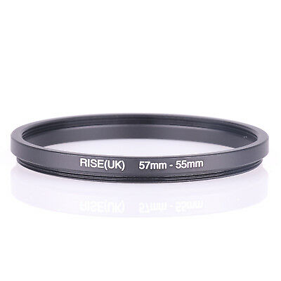 RISE (UK) 57-55MM 57MM-55MM 57 to 55 Step Down Ring Filter Adapter
