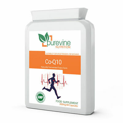 Co-Enzyme Q10 CoQ10 300mg 60 Capsules - Antioxidant, Heart, Energy Supplement